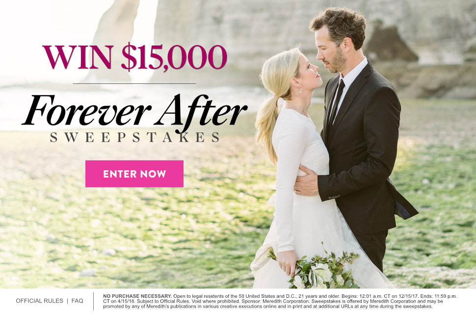 Forever After $15,000 Sweepstakes 2017 | Martha Stewart Weddings