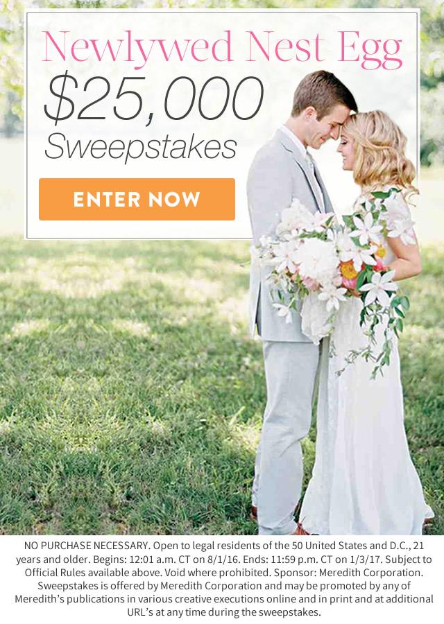 Martha Weddings Splash Newlywed Nest Egg $25,000 Sweepstakes ...