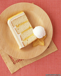 Tropical Wedding Cake Slice