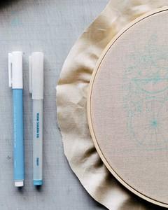Martha Stewart Floral Velo Embroidery Step 1