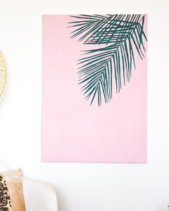 DIY Palm Canvas Art