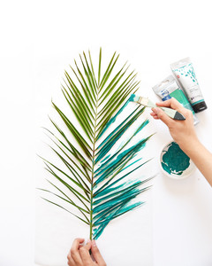 DIY Palm Canvas Art Step 3