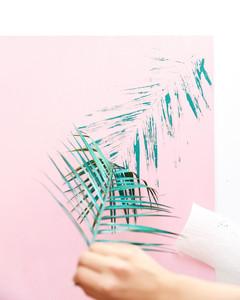 DIY Palm Canvas Art Step 6