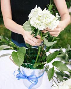 Fourth of July Flower Arrangement Step 3