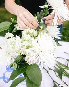 Fourth of July Flower Arrangement Step 4