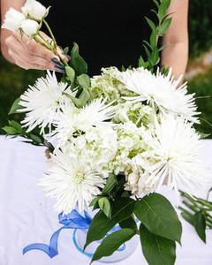 Fourth of July Flower Arrangement Step 5