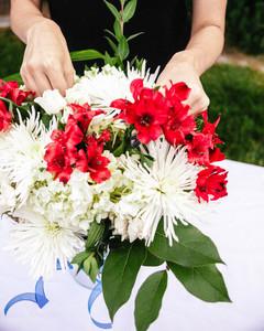 Fourth of July Flower Arrangement Step 7