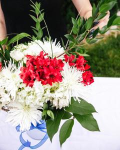 Fourth of July Flower Arrangement Step 8