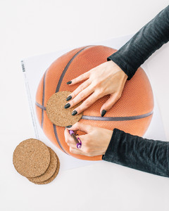 march madness basketball coaster tutorial step 1