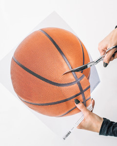march madness basketball coaster tutorial step 2