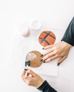 march madness basketball coaster tutorial step 3