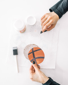 march madness basketball coaster tutorial step 4