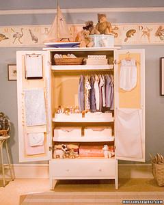 Organizing Baby S Armoire Martha Stewart