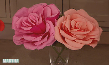 Video Crepe Paper Roses Martha Stewart