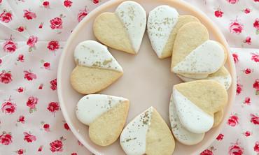 iced sugar cookie hearts