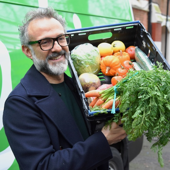 Chef Massimo Bottura of the nonprofit Food for Soul