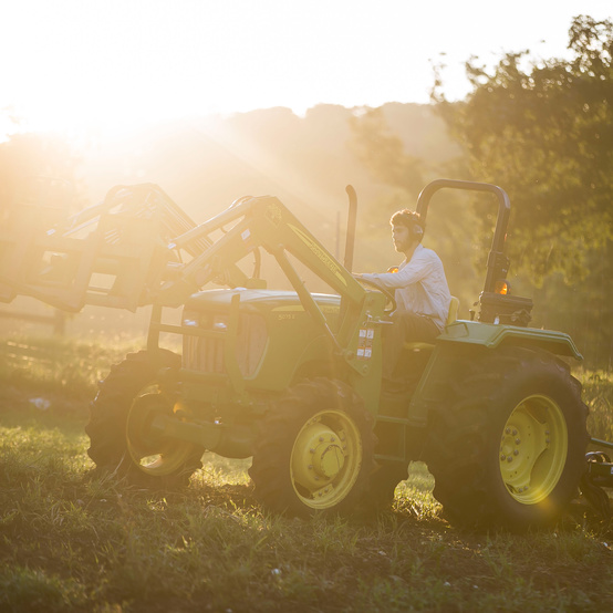 young farmer jason on tractor