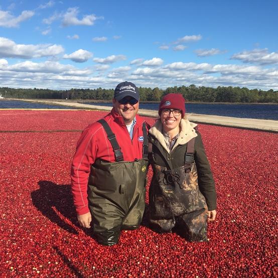 laura rege and farmer cranberry bog nj