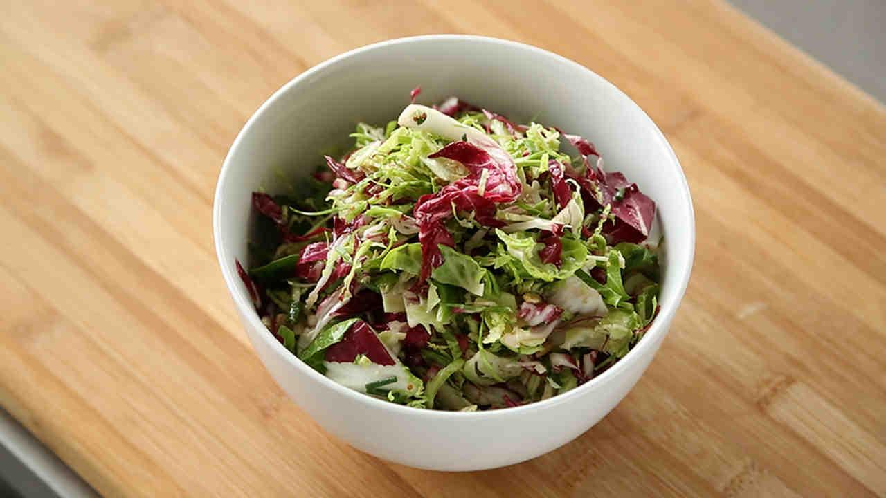 Brussels Sprout Slaw Recipe  Video Martha Stewart