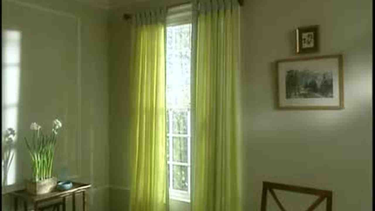 Video How To Install Tab Top Curtains Martha Stewart