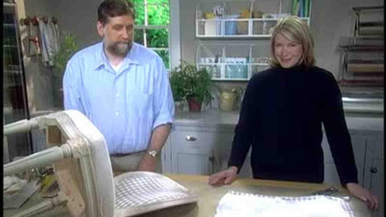 Now PlayingVideo  How to Recover a Seat Cushion   Martha Stewart. Recover A Round Chair Seat. Home Design Ideas