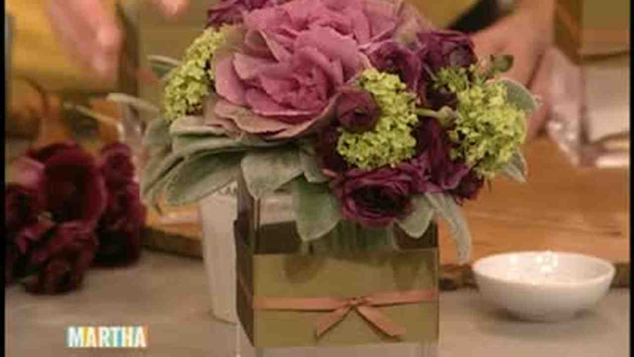 How To Make Flower Arrangements video: how to make a kale flower arrangement | martha stewart