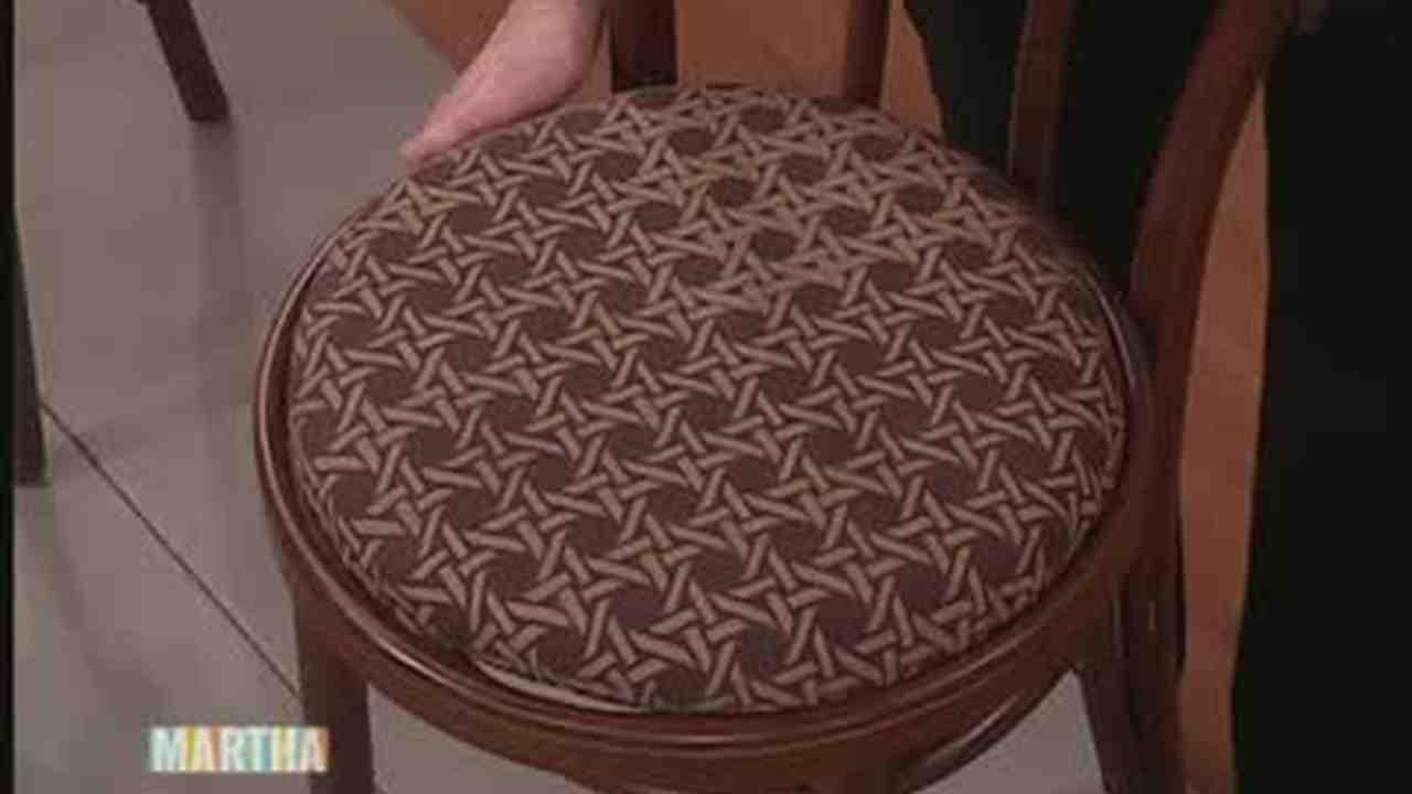 Make A Chair Cushion From Fabric