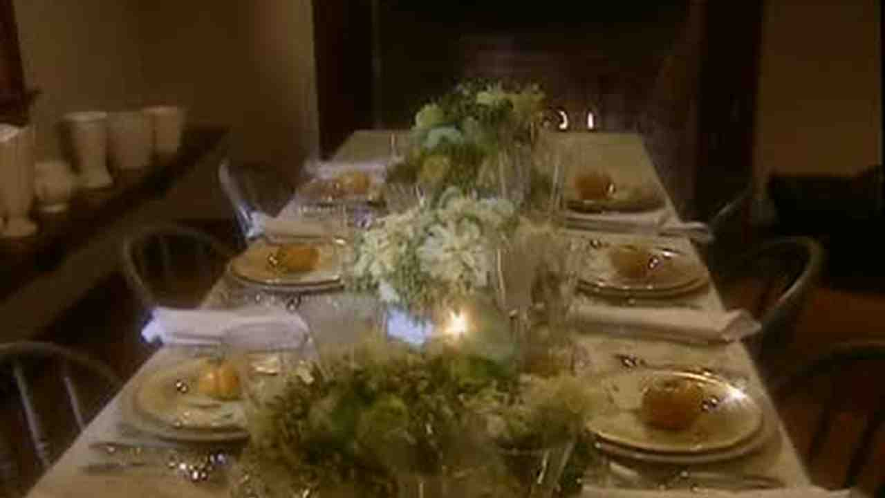 How To Set A Dinner Table video: how to set an elegant dinner table | martha stewart