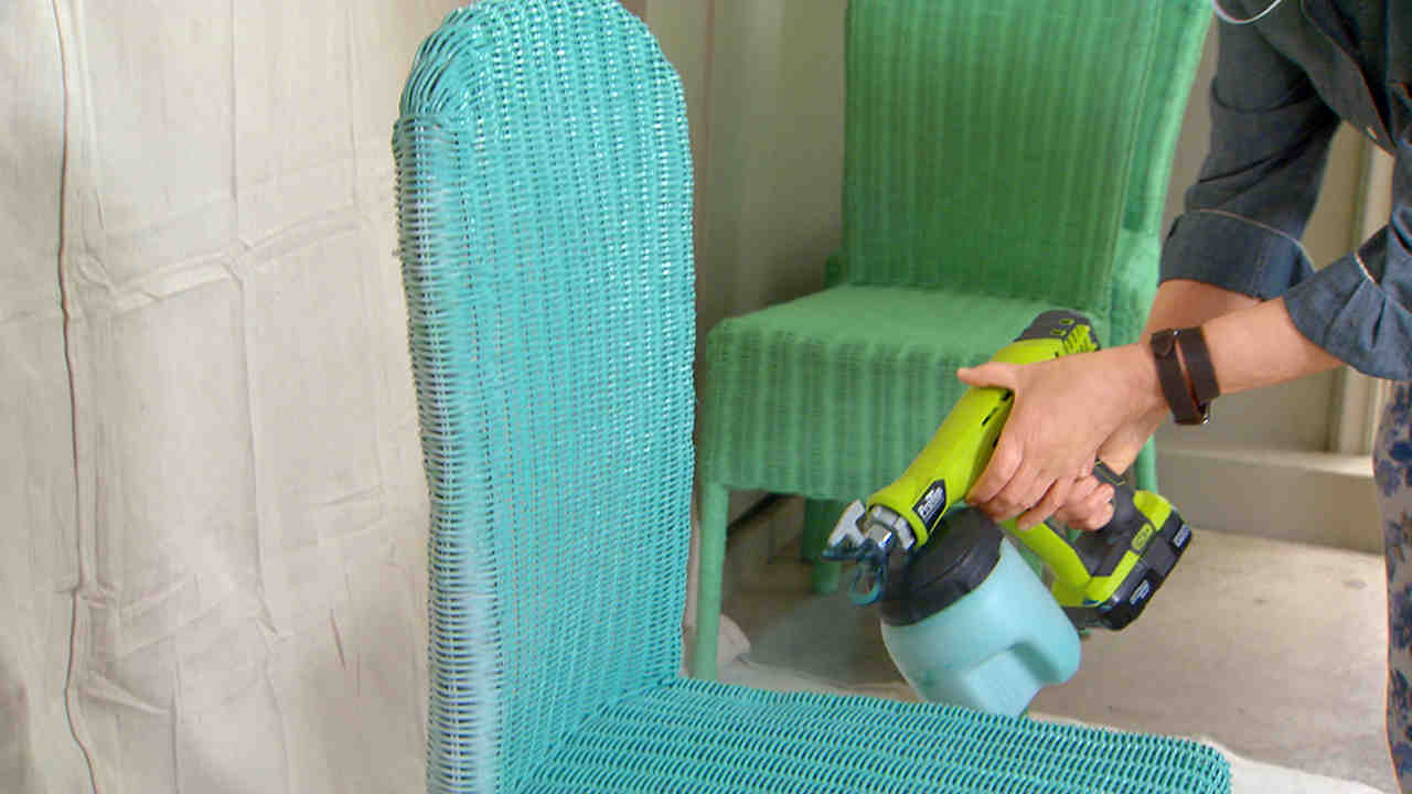 Cool How To Spray Paint Wicker Chairs Beutiful Home Inspiration Aditmahrainfo