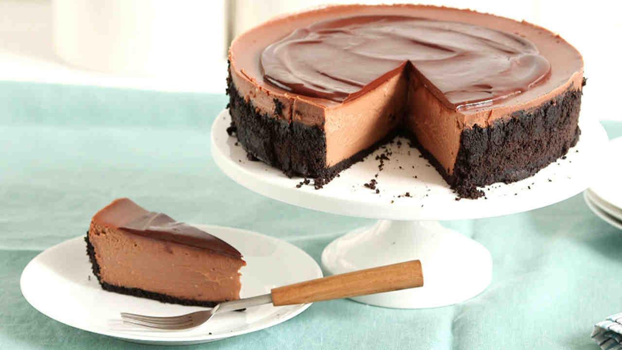 Triple-Chocolate Cheesecake Recipe & Video | Martha Stewart
