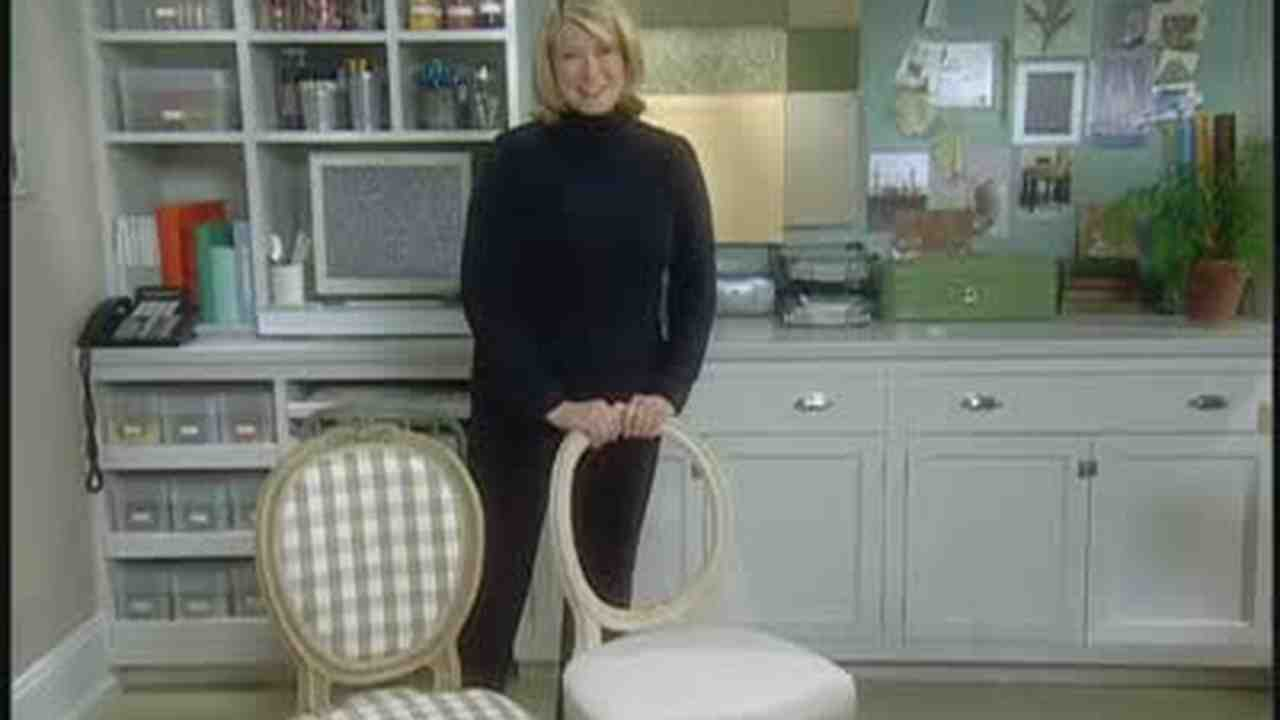 Video  How to Recover a Chair Seat and Back   Martha Stewart. Recover A Round Chair Seat. Home Design Ideas