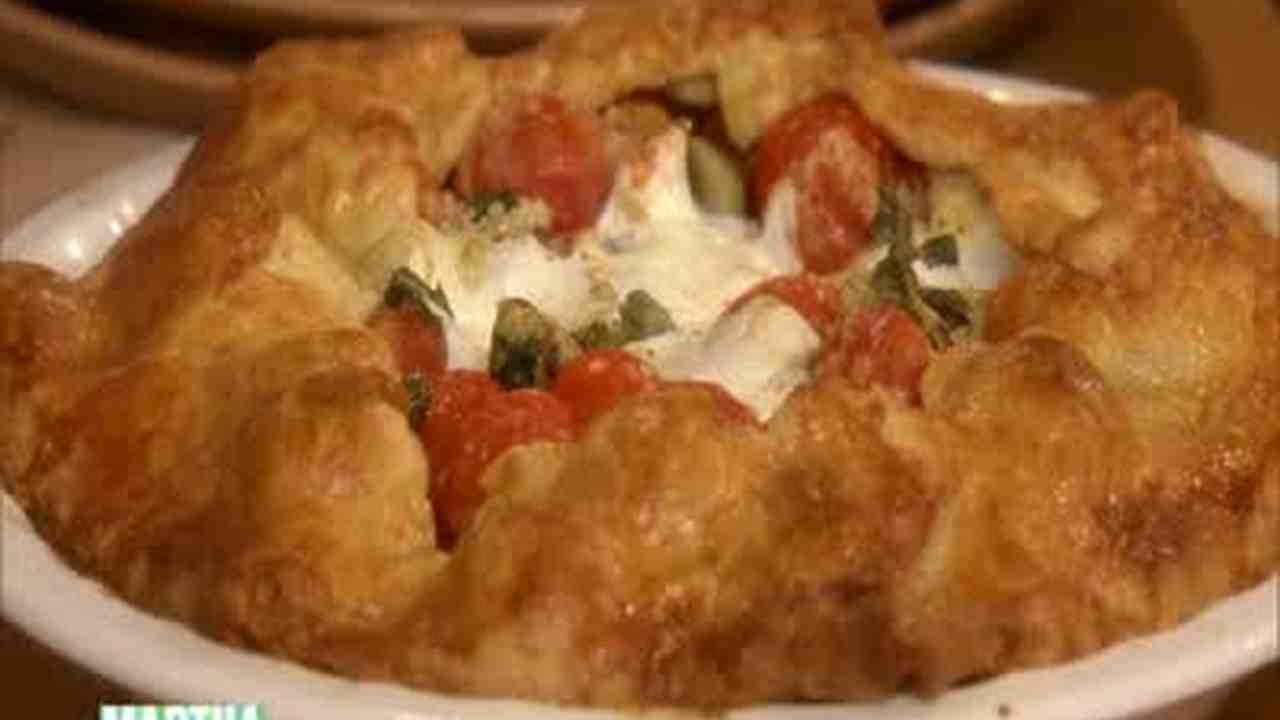 Cherry Tomato, Bocconcini, and Zucchini Pie Recipe  Video