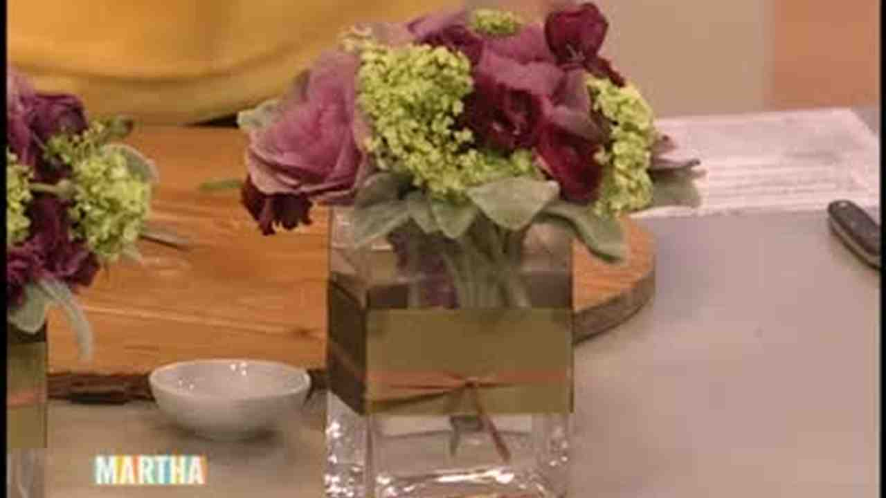 How To Make A Flower Arrangement video: how to make a flower arrangement | martha stewart