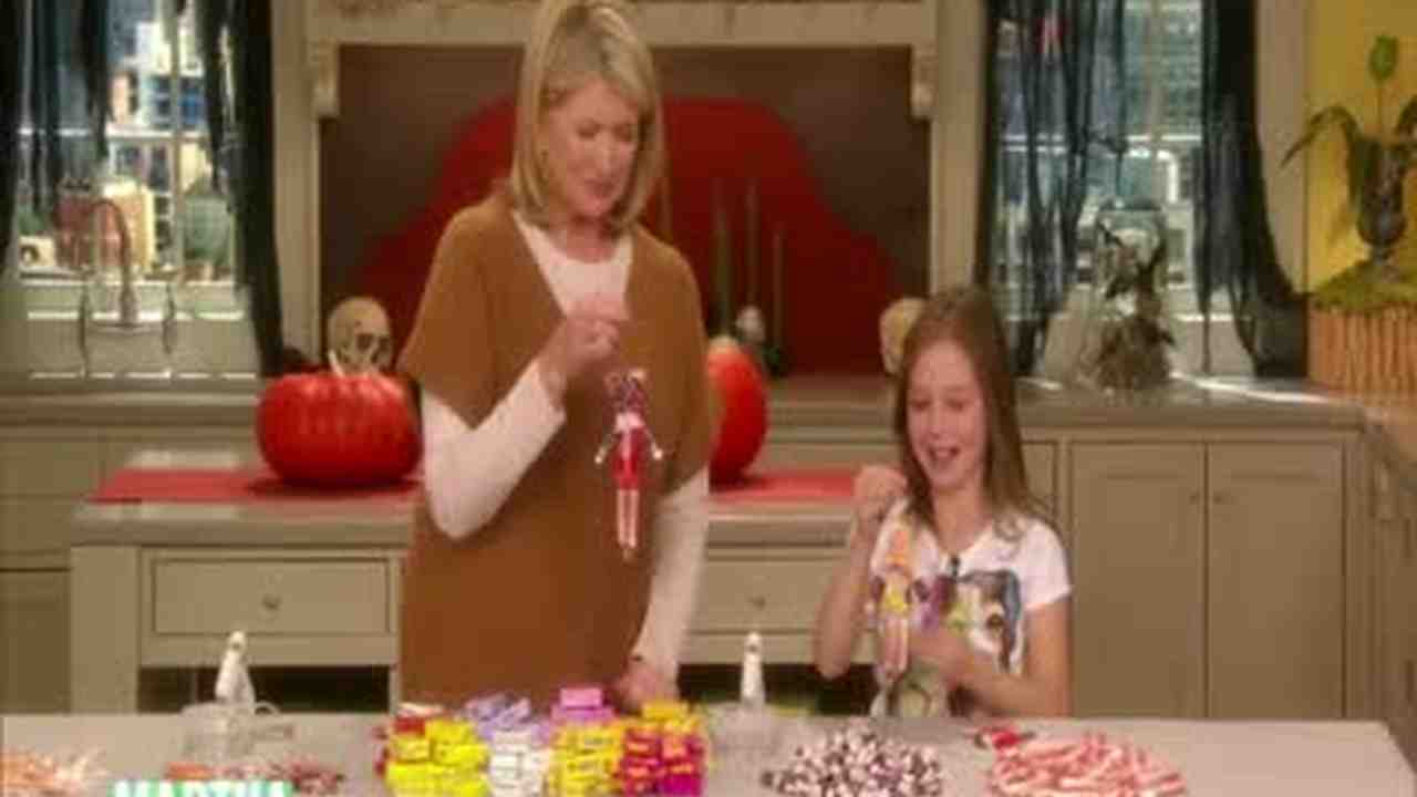 People Decorating For Halloween video: candy people decorations for halloween | martha stewart