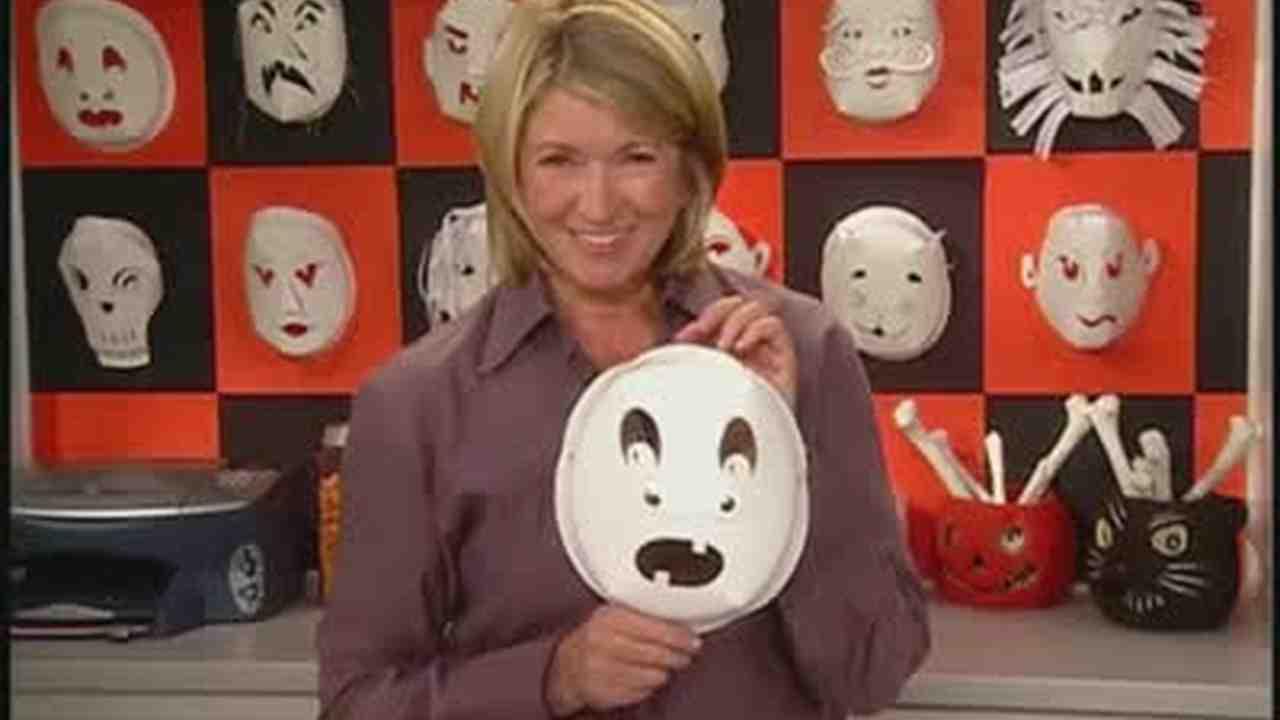 Video: Paper Plate Halloween Masks from Templates | Martha Stewart