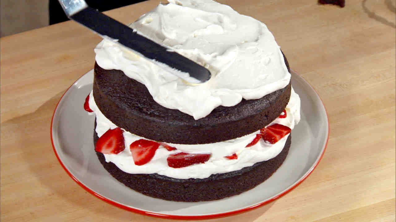 Chocolate Cake with Whipped Cream and Berries Recipe & Video ...