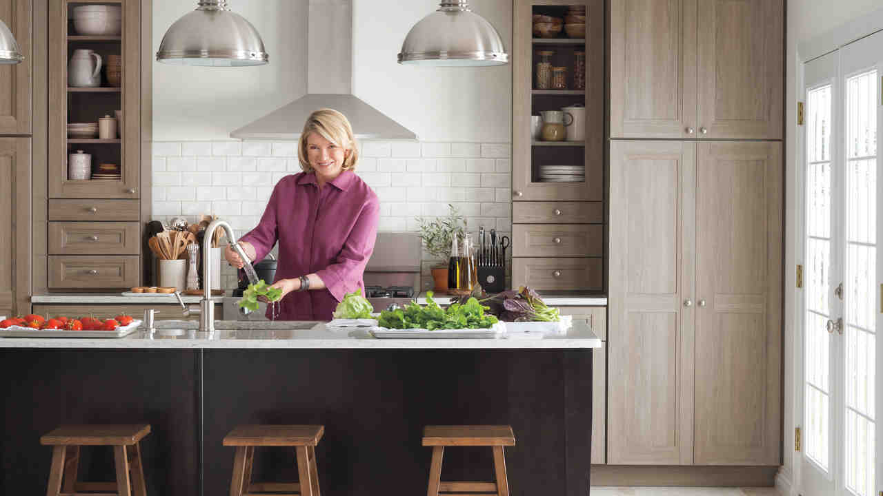 Video Martha Stewart Talks Purestyle Kitchen Cabinets Martha Stewart