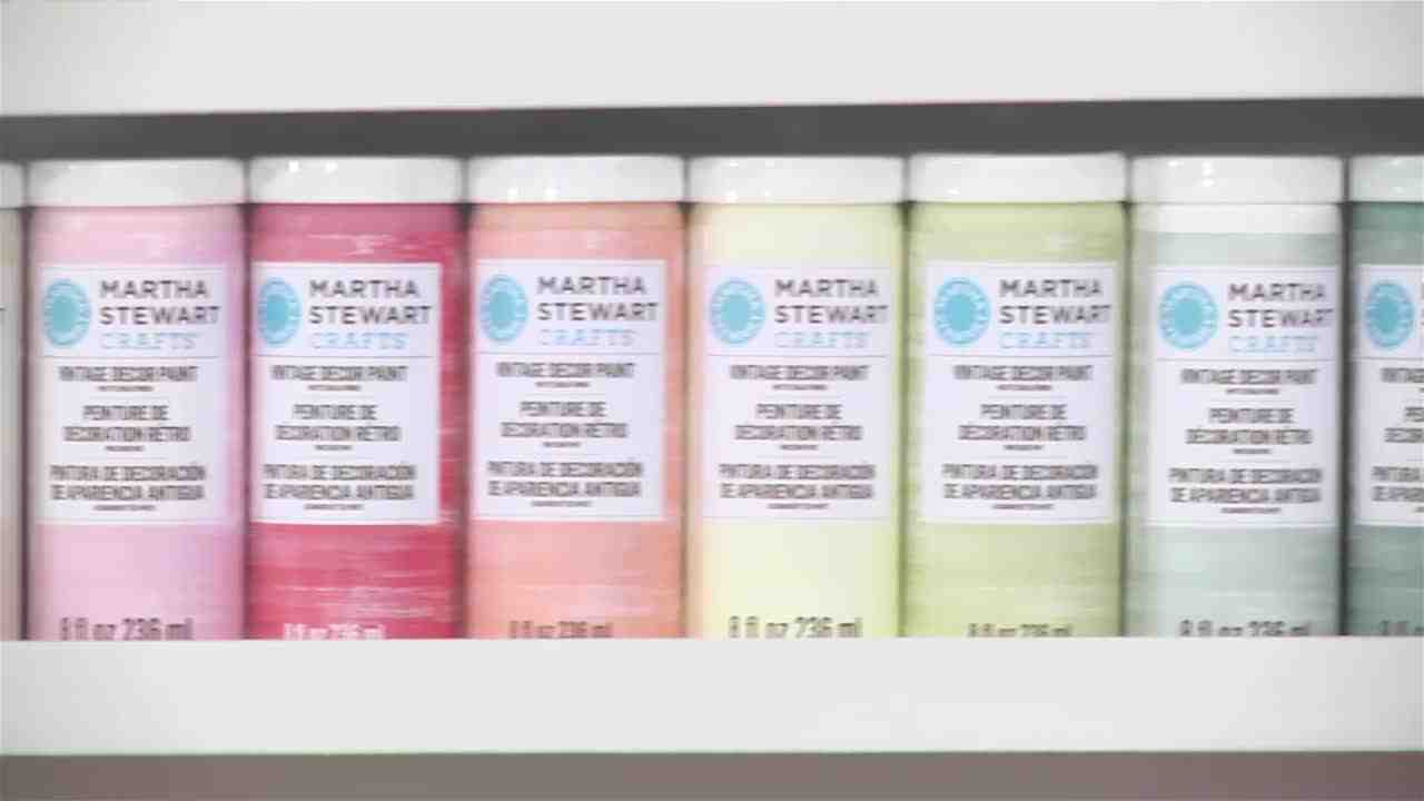 Video Stenciling With Martha Stewarts Vintage Decor Paint