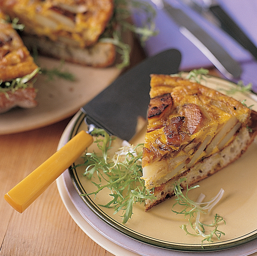 Spanish Onion And Potato Torta Recipe Martha Stewart