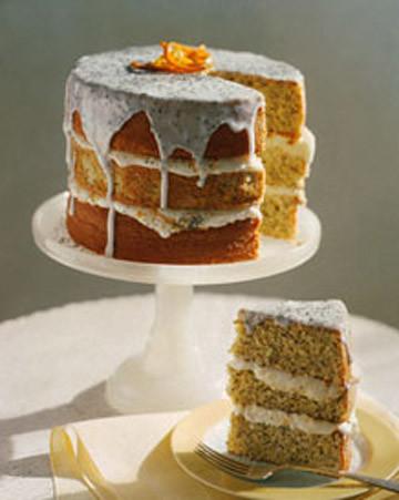 Three Tier Cake Lemon Orange