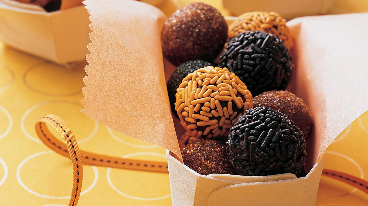 Black and Orange Take-Away Truffles Recipe | Martha Stewart