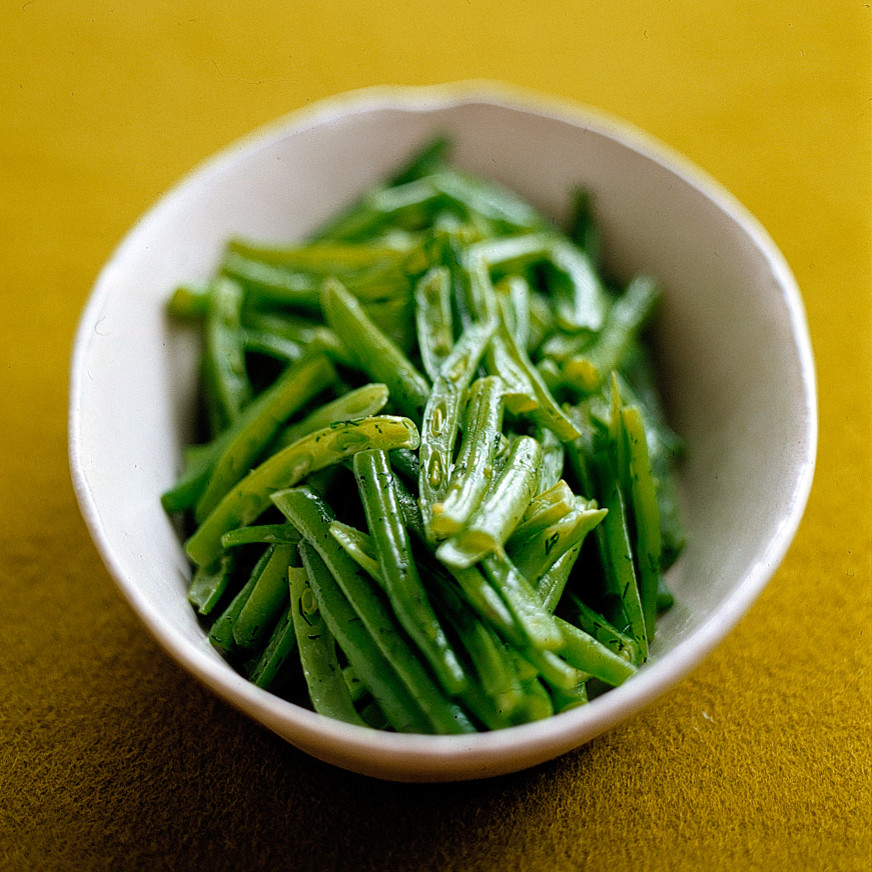 French-Cut Green Beans With Dill Butter Recipe