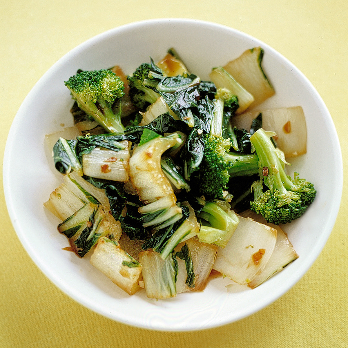 Sauteed Bok Choy And Broccoli Recipe Martha Stewart