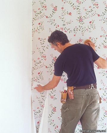 Hanging Wallpaper Fitting Corners And Trim Martha Stewart