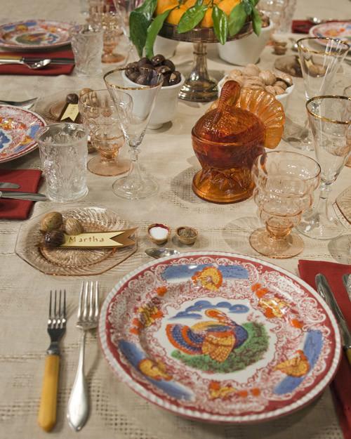 Thanksgiving Table Settings Pinterest: Martha's Thanksgiving Table Setting