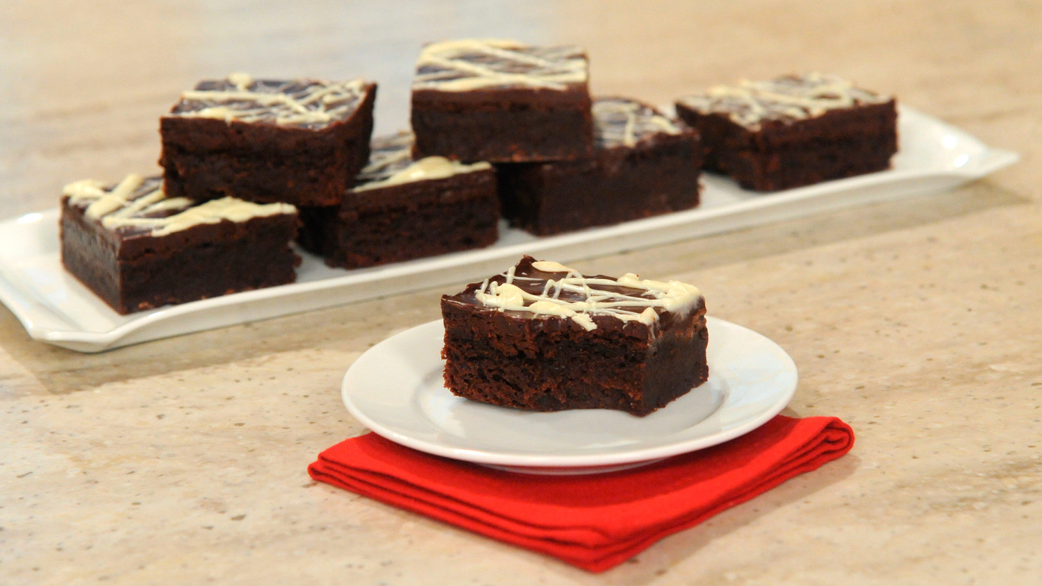 Triple-Chocolate Flourless Brownies Recipe & Video | Martha Stewart