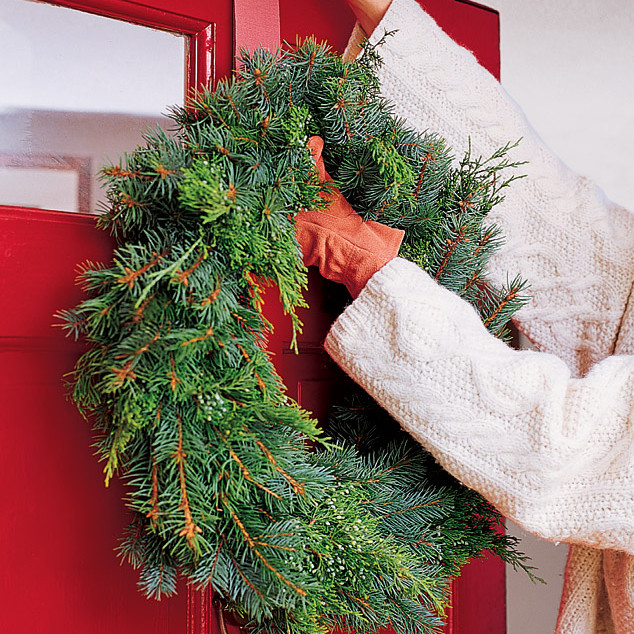 hang a wreath without making holes in the door martha stewart. Black Bedroom Furniture Sets. Home Design Ideas