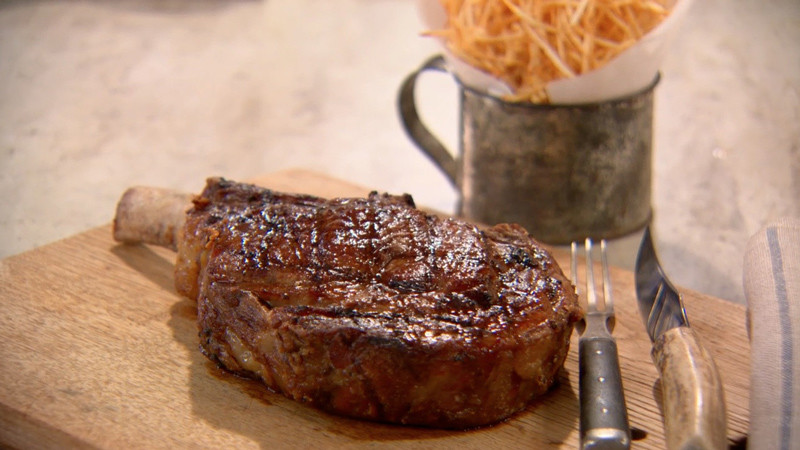 Video Grilled Cowboy Steak Martha Stewart