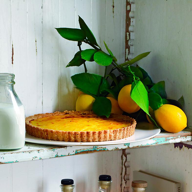 Rustic Meyer Lemon Tart Recipe | Martha Stewart