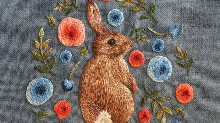 7 Embroidered Bunnies We're Loving For Easter   Martha Stewart